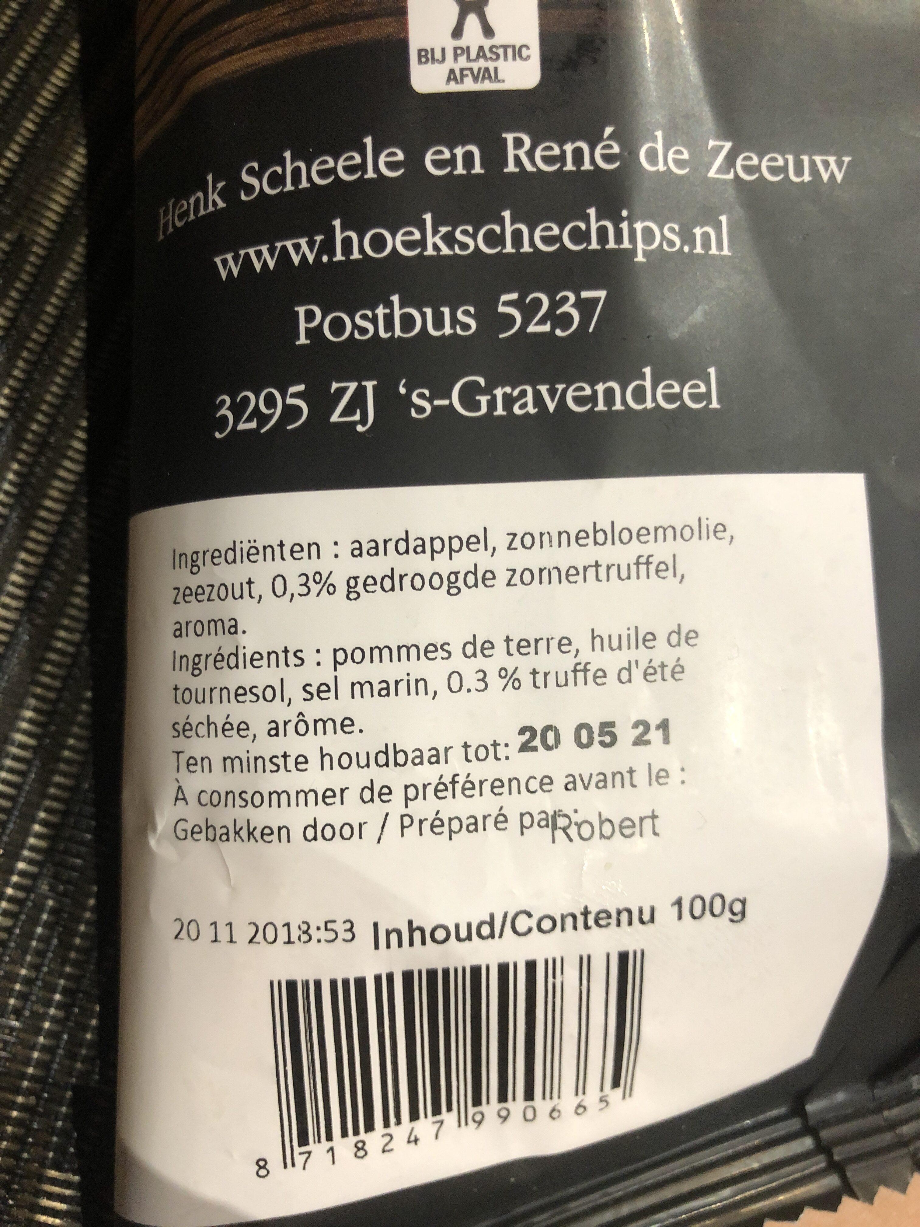 Truffel chips - Ingrediënten - nl