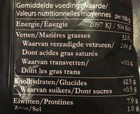 Truffel chips - Voedingswaarden - nl