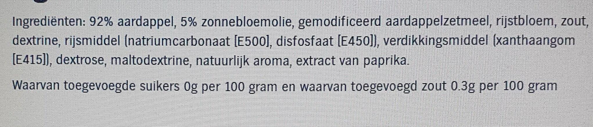 AH Ribbel friet - Ingrediënten - nl