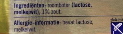 Roomboter Gezouten Wikkel - Ingrediënten