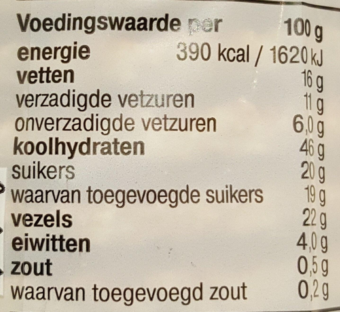 Stroop Wafels, Minder Suiker - Voedingswaarden - nl