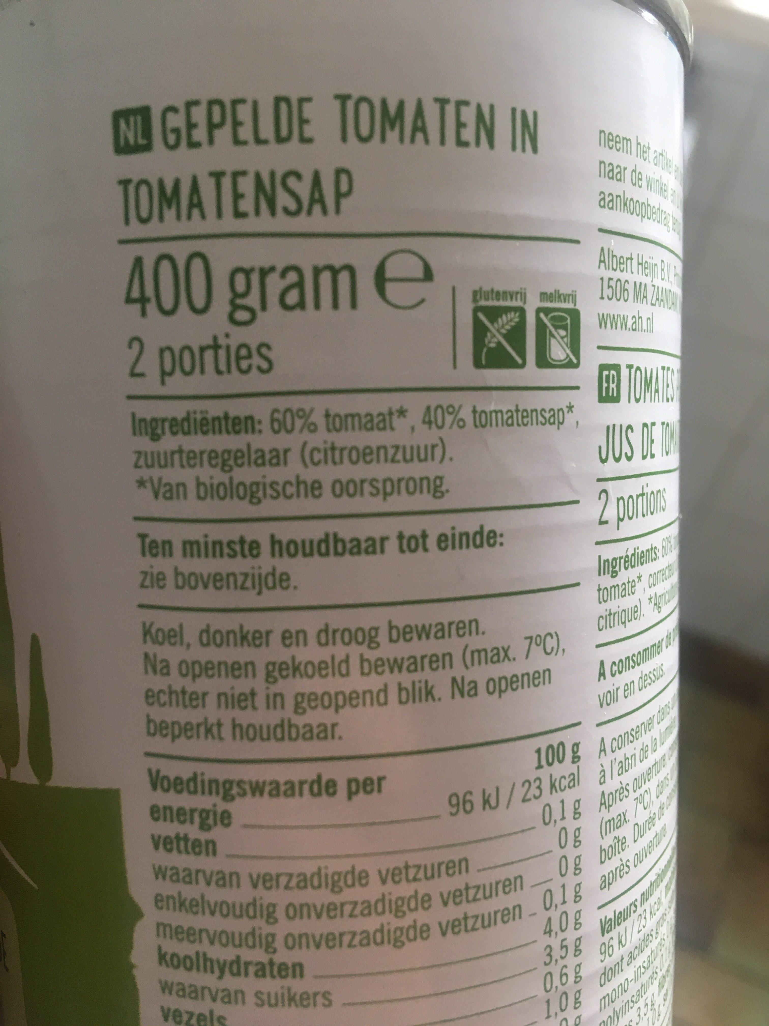 Biologische gepelde tomaten - Ingredients - nl