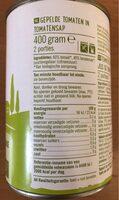 Biologische gepelde tomaten - Nutrition facts - nl