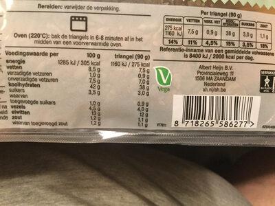 Triangel Meergranen broodjes - Informations nutritionnelles - nl