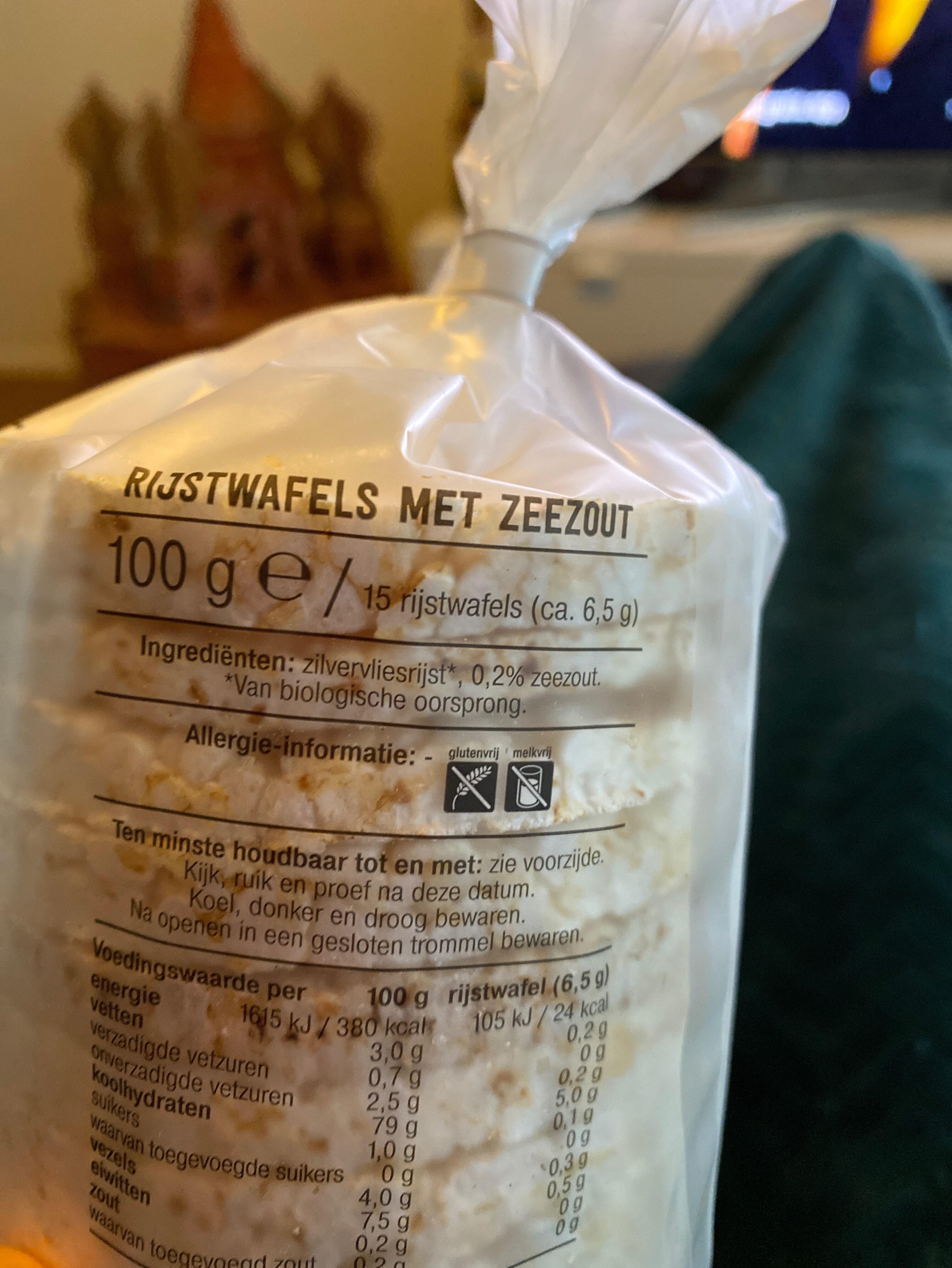 Rijstwafels Naturel - Ingredients - en