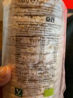 Rijstwafels Naturel - Nutrition facts - en