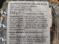 Voorgegaarde Kip Cordon Bleus - Ingredients - de