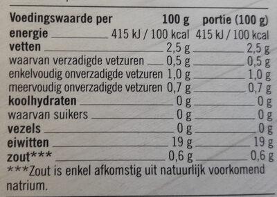Wilde zalmfilets - Nutrition facts - en
