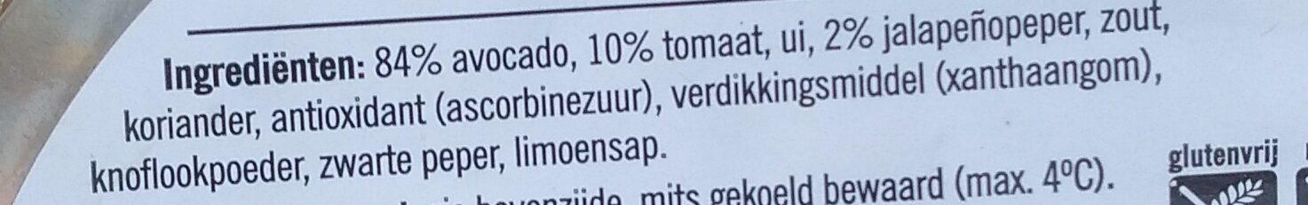 Guacamole spread - Ingrédients