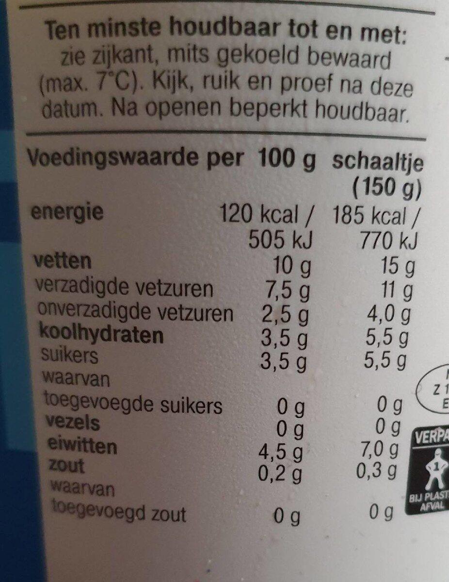 Yoghurt Griekse stijl - Nutrition facts