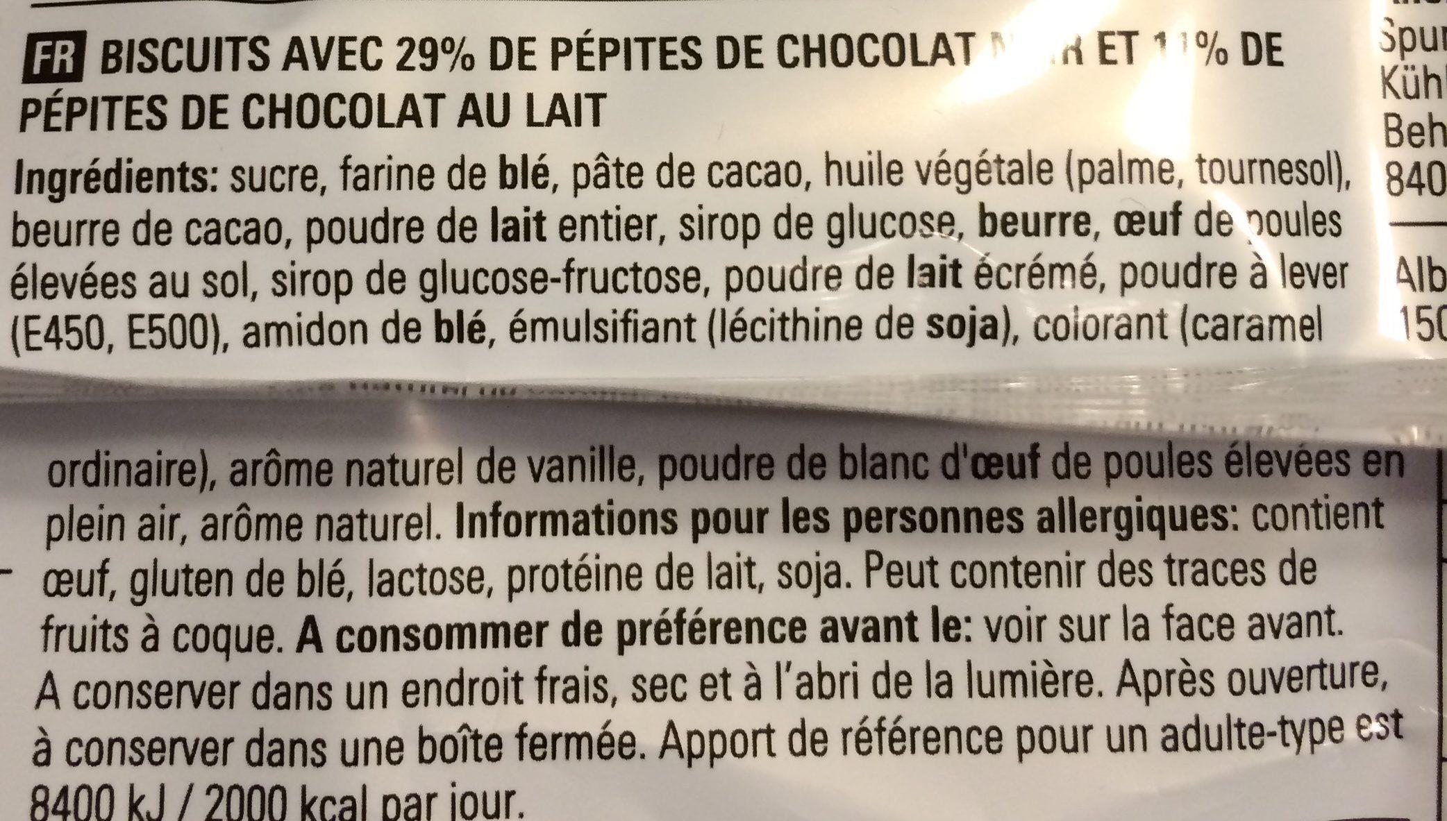 Chocolate Chip Cookies (chocolade Chip Koekjes) - Ingrediënten