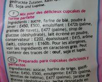 Préparation Cupcakes - 500G - Funcakes - Ingrediënten