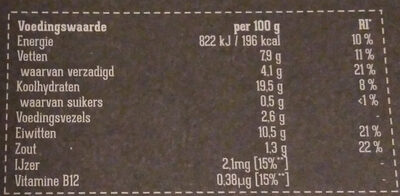 Spinazie Kaas Filet - Informations nutritionnelles - nl