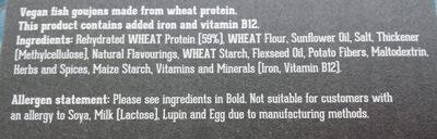 Veggie Fish Gujons - Ingredientes