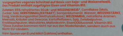 Veganes knuspriges Schnitzel Hähnchen-Art - Ingredients - de