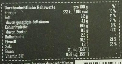 Spinat-Käse Filet - Informations nutritionnelles