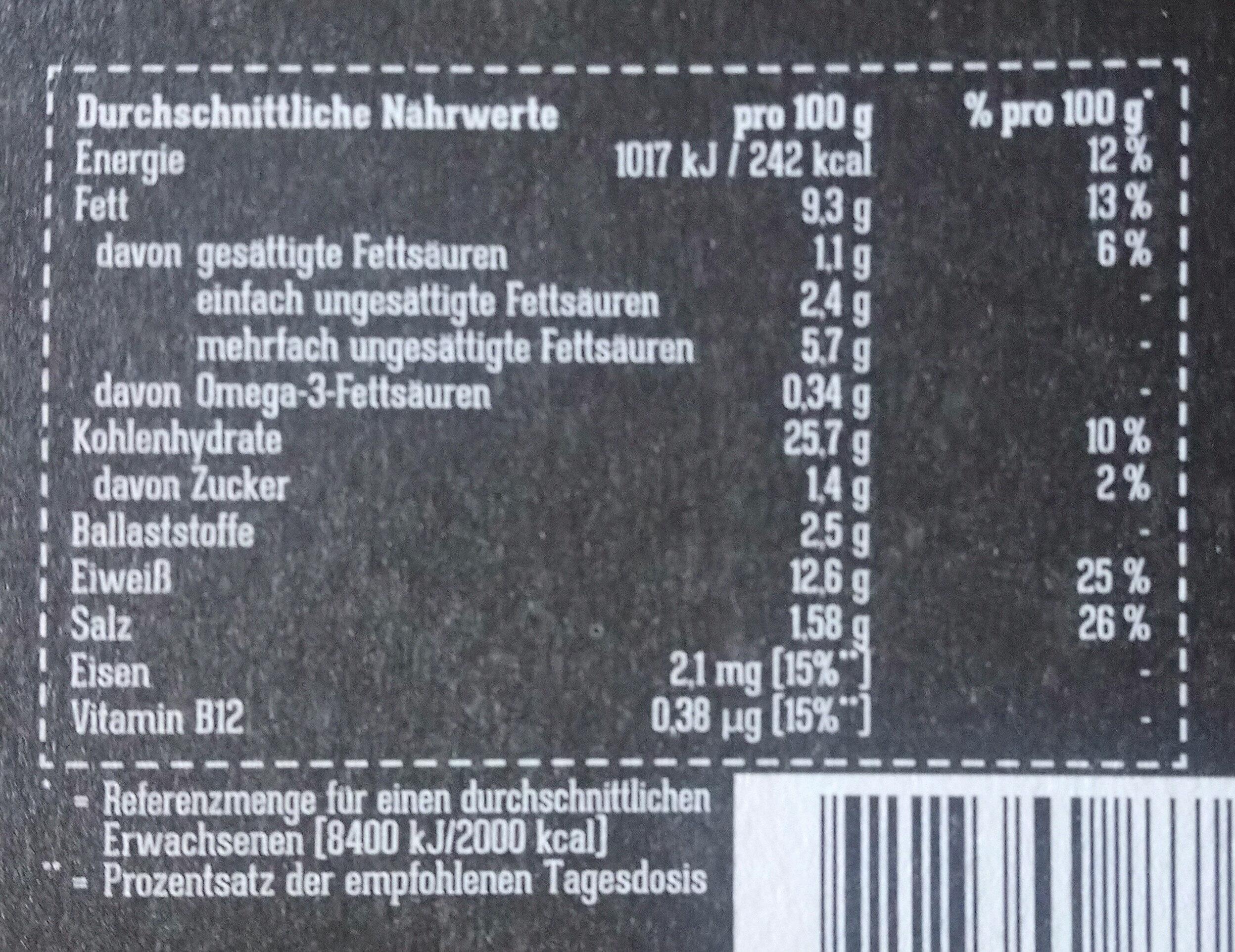 Stick de poissons vegan - Valori nutrizionali - de