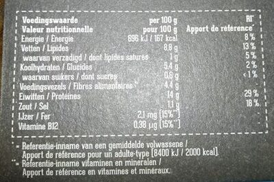 Gyros 100% végétal - Voedingswaarden