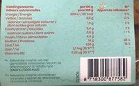 Gyros 100% végétal - Informations nutritionnelles - fr