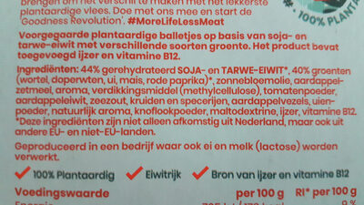 Plant Groenteballetjes - Ingredients - nl