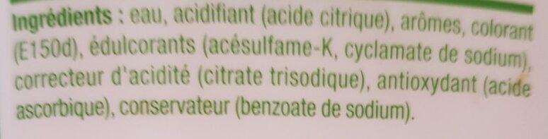 Concentré saveur Thé Pêche Zéro - Ingrédients - fr