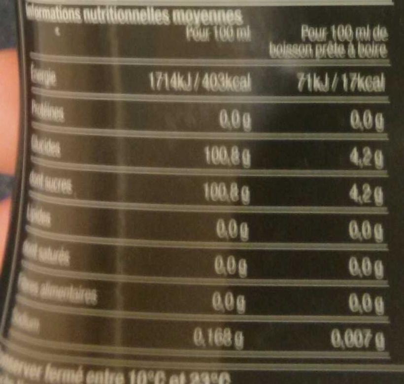 Sodastream - Concentré Cocktail Mojito - 30025374 - Nutrition facts - fr