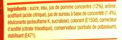 Concentré Saveur Cranberry Framboise - Ingrédients - fr