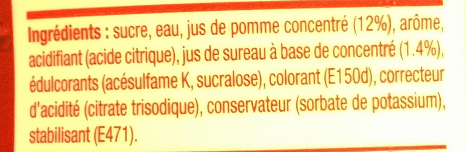 Concentré Saveur Cranberry Framboise - Ingrédients