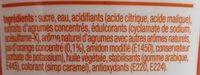 Concentré saveur agrumes - Ingredients