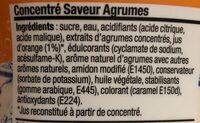 Concentré saveur agrumes - Informations nutritionnelles