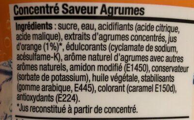 Concentré saveur agrumes - Nutrition facts