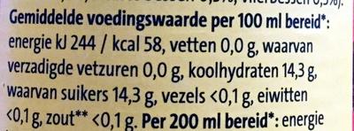 Diksap rood fruit - Voedingswaarden - nl