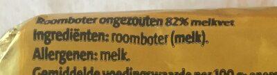 Roomboter ongezouten - Ingrediënten - nl