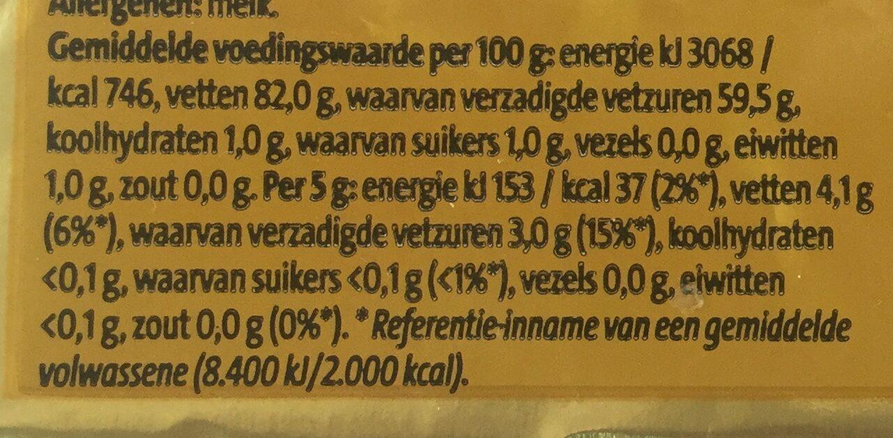 Roomboter ongezouten - Voedingswaarden - nl
