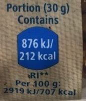 Raw Walnuts - Informations nutritionnelles - fr