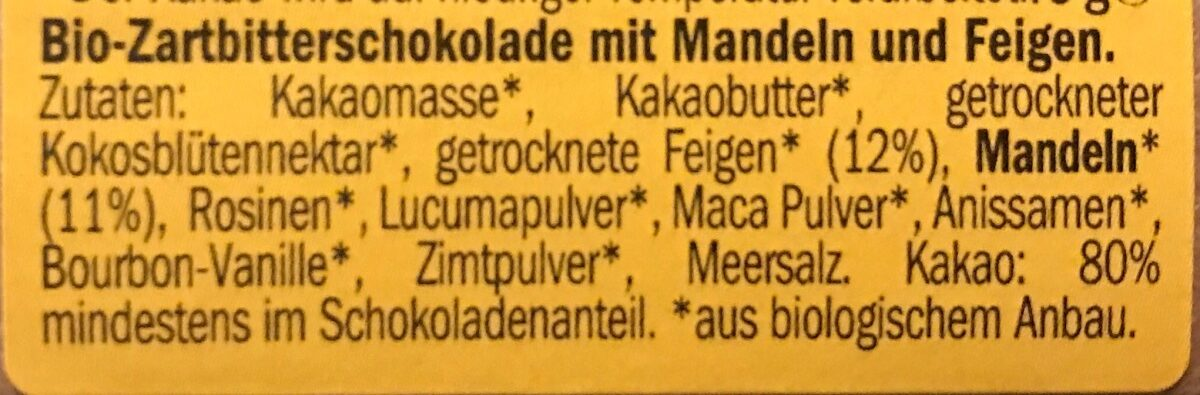 Lovechock amande figue - Ingrédients