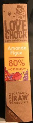 Organic Raw Chocolate Amande/Figue - Product - fr