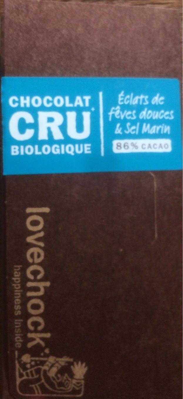 Tablette éclats Fèves & Sel Marin - Product - fr