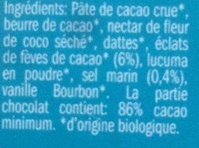 Tablette éclats Fèves & Sel Marin - Ingrediënten - fr