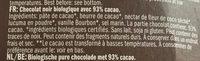 Extra foncé 93% cacao - Ingrediënten