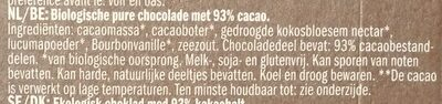 Extra dark 93% cacao - Ingrediënten - nl
