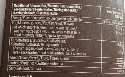 Extra dark 93% cacao - Voedingswaarden - fr