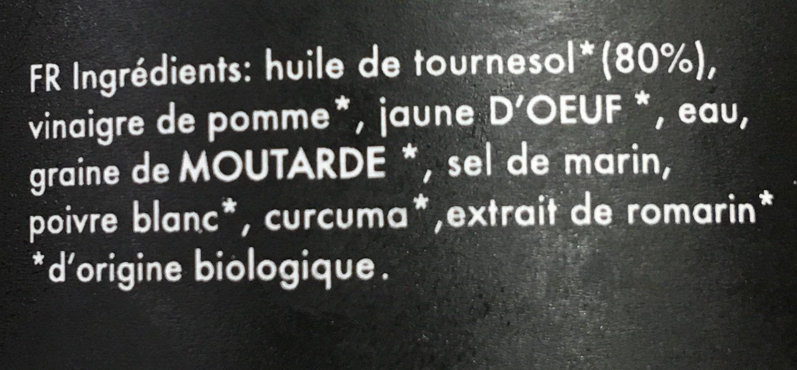 Organic Mayonnaise - Ingrédients - fr