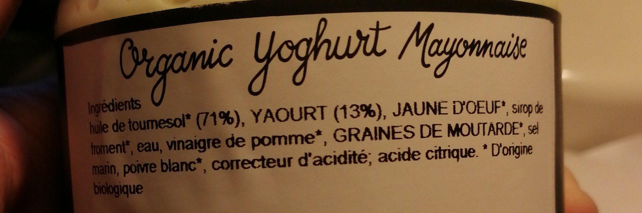Organic yoghurt mayonnaise - Ingrédients - fr