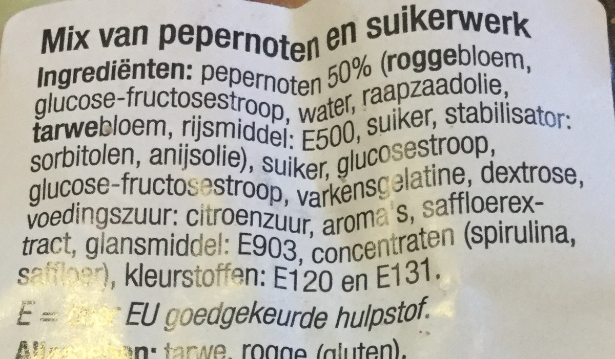 Oud hollandse strooimix - Ingrédients - nl