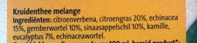 Weer & wind thee - Ingrediënten - nl
