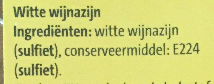 Witte wijnazijn - Ingrediënten - nl