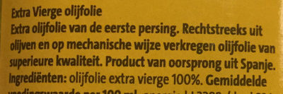 Extra vierge olijfolie - Ingrediënten