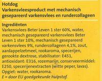 Jumbo Hotdogs - Ingrediënten - nl
