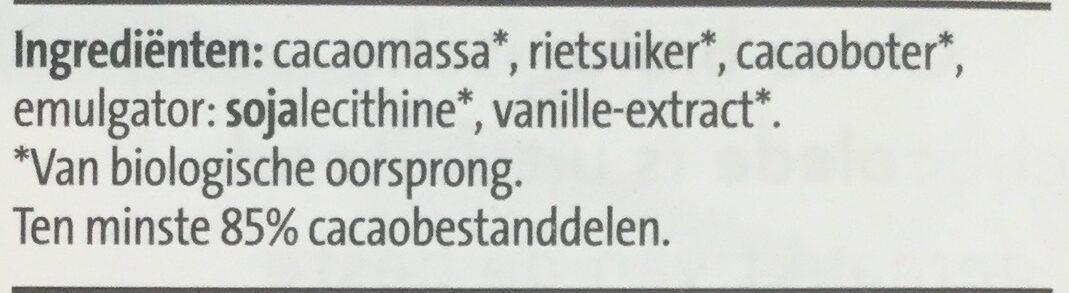 85% extra puur - Ingrediënten - nl